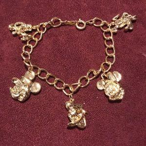 Disney Vintage Gold Original Character Bracelet